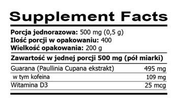 Rawfoods Guarana Extract 200g